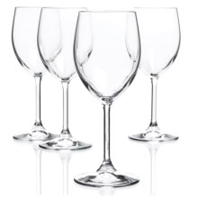 Bormioli Rocco Momenti White Wine Glasses - Crystal, Set of 4 in Clear - Closeouts