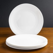 """Bormioli Rocco Moon Porcelain Glass Charger Plates - 12.25"""", Set of 6 in White - Overstock"""