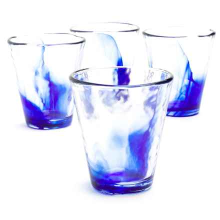 Bormioli Rocco Murano Blue Long Drink Glasses - Set of 4 in Blue - Overstock