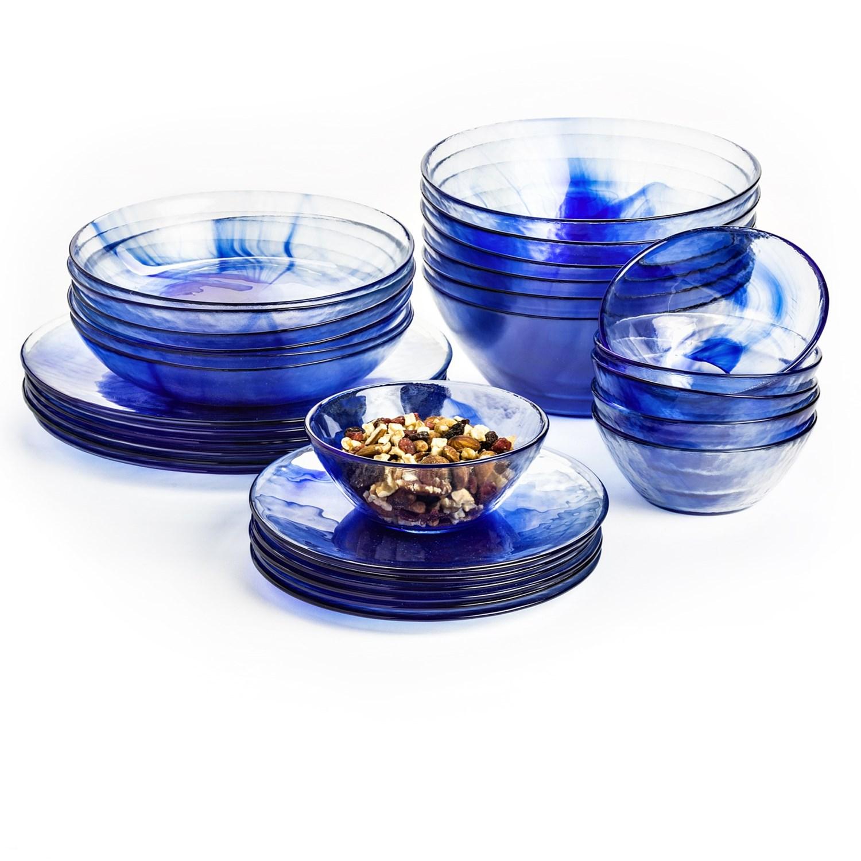 bormioli rocco murano dinner plates   tempered glass set