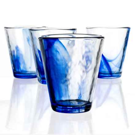 Bormioli Rocco Murano Water Glasses - 9 fl.oz., Set of 4 in Blue - Closeouts
