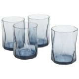 Bormioli Rocco Nettuno Blue Rocks Glasses - Set of 4