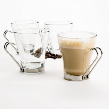 Bormioli Rocco Oslo Cappuccino Cups - Set of 4 in Clear - Overstock