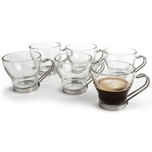 Bormioli Rocco Oslo Espresso Cups - 3.5 fl.oz, Set of 6 in Stainless / Glass - Overstock