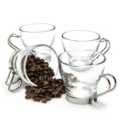 Bormioli Rocco Oslo Espresso Cups - Set of 4 in Clear