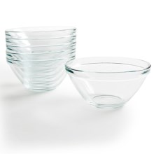 Bormioli Rocco Pompei Glass Bowls - 35 oz., Set of 6 in Clear - Overstock
