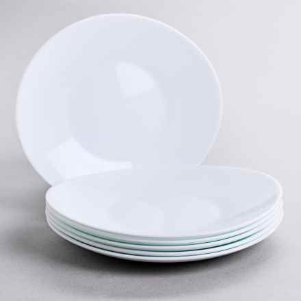 Bormioli Rocco Prometeo Dessert Plates - Tempered Opal Glass, Set of 6 in White - Overstock