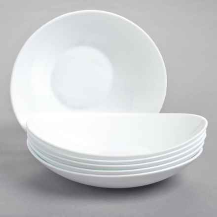 Bormioli Rocco Prometeo Pasta Bowls - Tempered Opal Glass, Set of 6 in White - Overstock