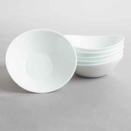 Bormioli Rocco Prometeo Small Bowls - Tempered Opal Glass, Set of 6 in White - Overstock