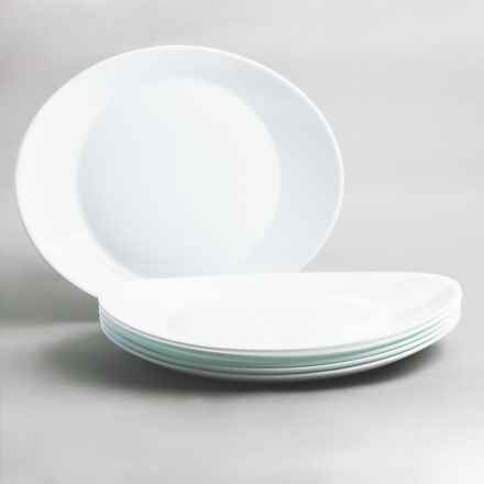 Bormioli Rocco Prometeo Steak Plates - Set of 6 in White - Closeouts