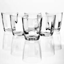 Bormioli Rocco Pulsar Double Old-Fashioned Glasses - Set of 6 in Clear - Overstock