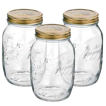 Bormioli Rocco Quattro Stagioni Canning Jars - 3-Piece Set in Clear - Closeouts