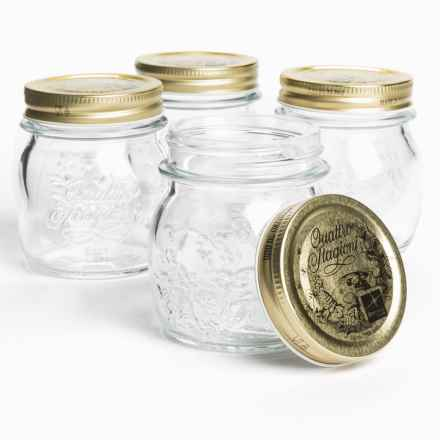 Bormioli Rocco Quattro Stagioni Canning Jars - 8.5 oz., Set of 4 in Clear - Overstock