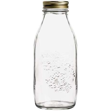 Bormioli Rocco Quattro Stagioni Glass Bottle - 33.75 fl.oz. in Clear