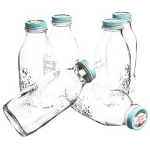 Bormioli Rocco Quattro Stagioni Vintage 1L Storage Jars - Set of 6 in Sky Blue - Overstock