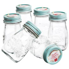 Bormioli Rocco Quattro Stagioni Vintage Canning Jars - 6.75 fl.oz., Set of 6 in Sky Blue - Overstock