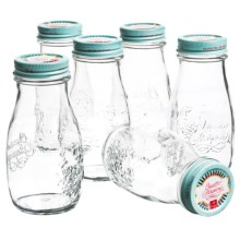 Bormioli Rocco Quattro Vintage Canning Jars - 13.5 fl.oz., Set of 6 in Sky Blue - Overstock