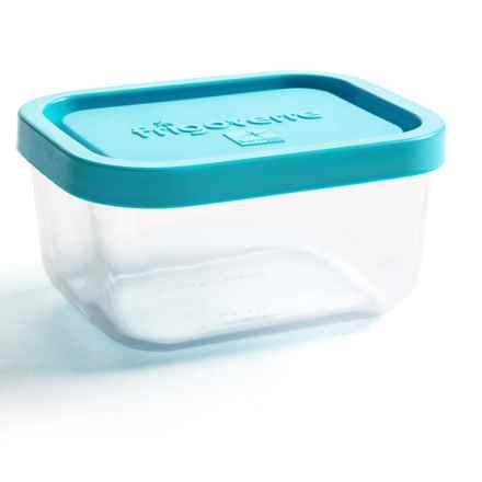 Bormioli Rocco Rectangle Glass Food Storage Container - 13.5 oz. in Blue - Closeouts