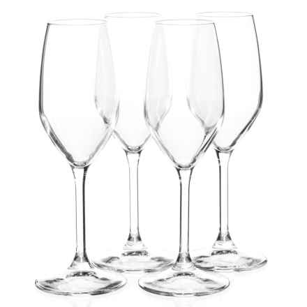 Bormioli Rocco Restaurant Champagne Flute Glasses - 7 fl.oz., Set of 4 in Clear - Closeouts