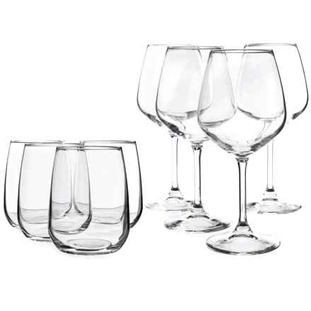 Bormioli Rocco Restaurant Stemware Glass Set - 8-Piece in Clear - Closeouts