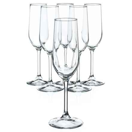 Bormioli Rocco Riserva Champagne Glasses - 7 oz., Set of 6 in Clear - Overstock