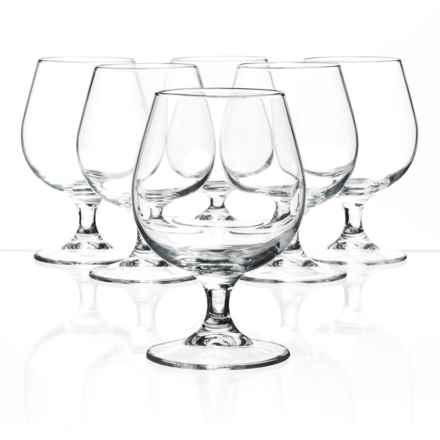 Bormioli Rocco Riserva Cognac Glasses - Set of 6 in Clear - Closeouts