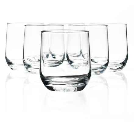 Bormioli Rocco Riserva Double Old-Fashioned Glasses - Set of 6 in Clear - Closeouts