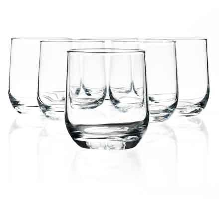 Bormioli Rocco Riserva Double Old-Fashioned Glasses - Set of 6 in Clear - Closeouts
