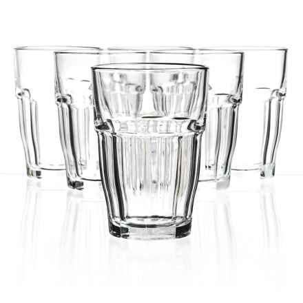 Bormioli Rocco Rock Bar Cooler Glasses - Set of 6 in Clear - Closeouts