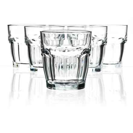 Bormioli Rocco Rock Bar Double Old-Fashioned Glasses - Set of 6 in Clear - Closeouts