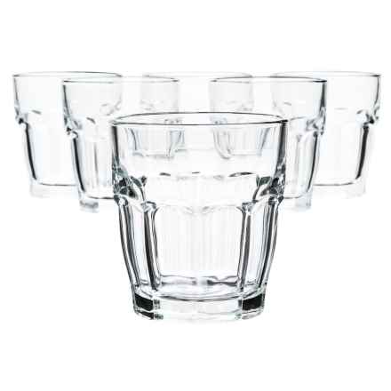 Bormioli Rocco Rock Bar Glass Tumblers - 6.75 fl.oz., Set of 6 in See Photo - Closeouts