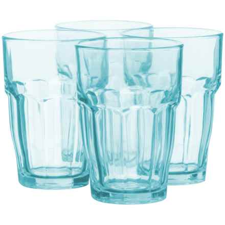 Bormioli Rocco Rock Bar Long Drink Glasses - 12 fl.oz., Set of 4 in Ice - Closeouts