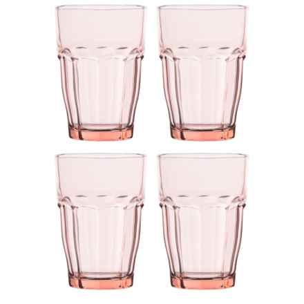 Bormioli Rocco Rock Bar Lounge Glasses -12.5 oz., Set of 4 in Peach - Closeouts