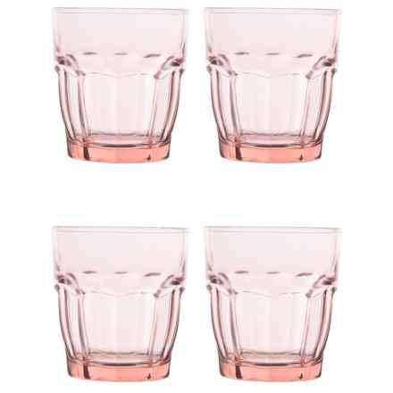 Bormioli Rocco Rock Bar Lounge Glasses - 9.25 oz., Set of 4 in Peach - Closeouts