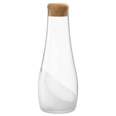 Bormioli Rocco Satin Wave Carafe with Cork - 33 fl.oz. in Clear - Overstock