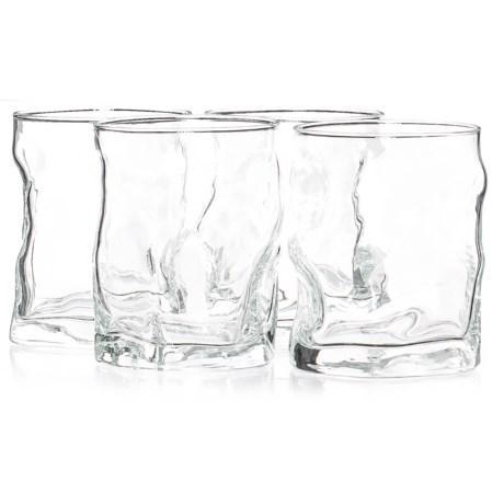 Bormioli Rocco Sorgente Double Old-Fashioned Glasses - 14 fl.oz., Set of 4 in Clear