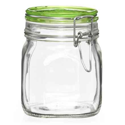 Bormioli Rocco Square Glass Food Storage Jar - 25 oz. in Green - Closeouts