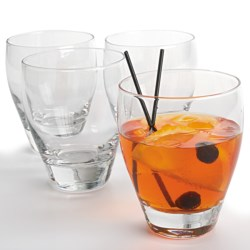 Bormioli Rocco Toscana Double Old-Fashioned Glasses - 13.5 fl.oz., Set of 4 in Clear