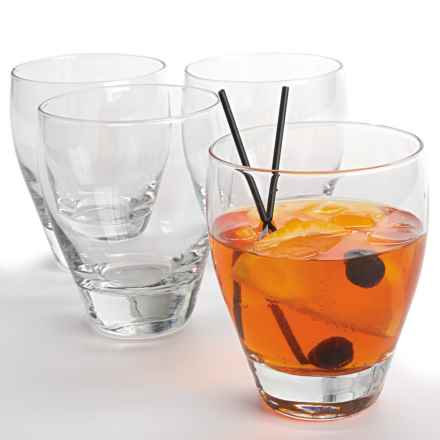 Bormioli Rocco Toscana Double Old-Fashioned Glasses - 13.5 fl.oz., Set of 4 in Clear - Overstock