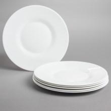 Bormioli Rocco Venere Porcelain Dinner Plates - Set of 6 in White - Overstock