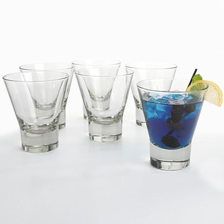 Bormioli Rocco Ypsilon Double Old-Fashioned Glasses - Set of 6 in Clear