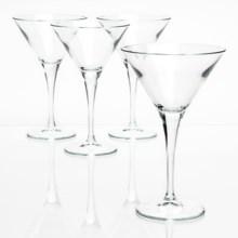 Bormioli Rocco Ypsilon Martini Glasses - Set of 4 in Clear - Closeouts