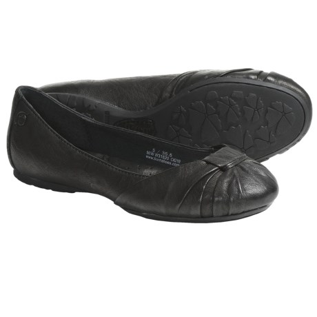 Born Adele Flats - Leather (For Women) in Black