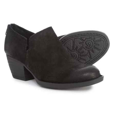 Born Antonia Ankle Shooties - Leather (For Women) in Black Distressed - Closeouts