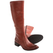 Born Asbee Leather Boots (For Women) in Brick Full Grain - Closeouts