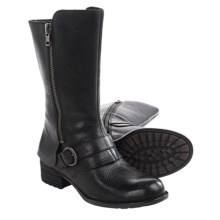 Born Aubra Leather Boots (For Women) in Black Full Grain - Closeouts