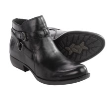 Born Baily Ankle Boots - Leather (For Women) in Black Full Grain - Closeouts