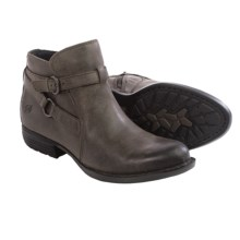 Born Baily Ankle Boots - Leather (For Women) in Peltro Oiled Suede - Closeouts