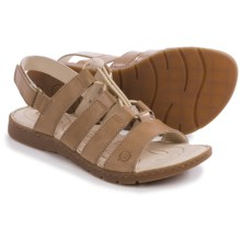 Born Bali Sandals - Leather (For Women) in Taupe Full Grain - Closeouts