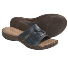 Born Beatrice Leather Sandals (For Women) in Navy Leather - Closeouts
